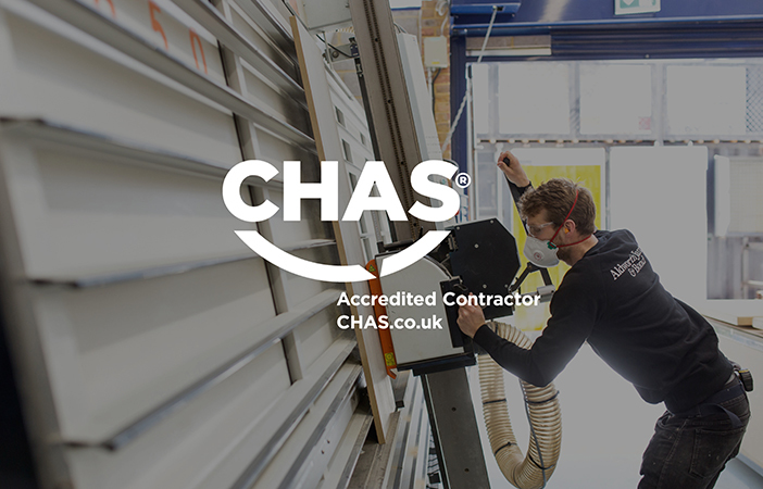 Aldworth James & Bond is now a CHAS accredited contractor.