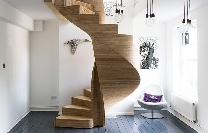 Plywood Staircase