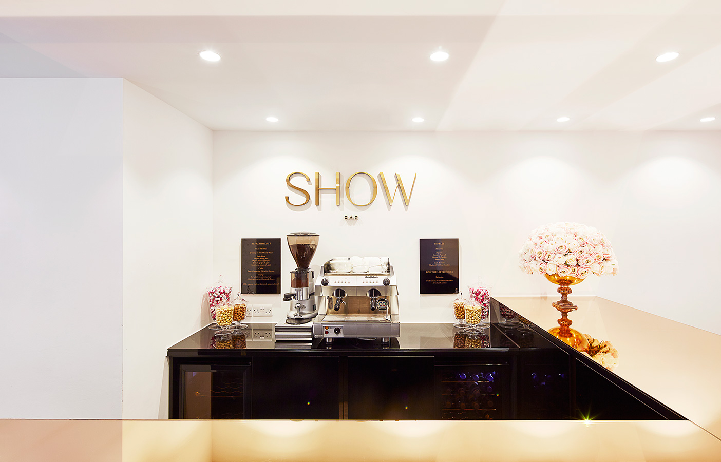 Aldworth James & Bond | Luxury Salon prosecco bar