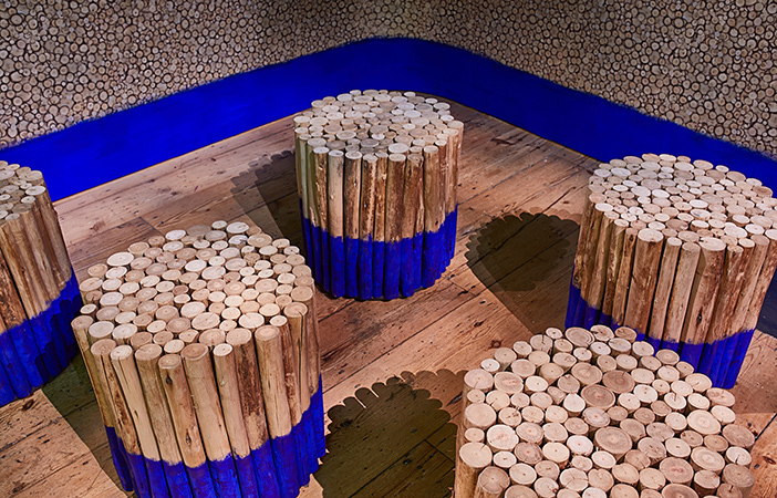 Aldworth James & Bond | London Design Biennale 2018 at Somerset House - Brazil Eucalyptus stools