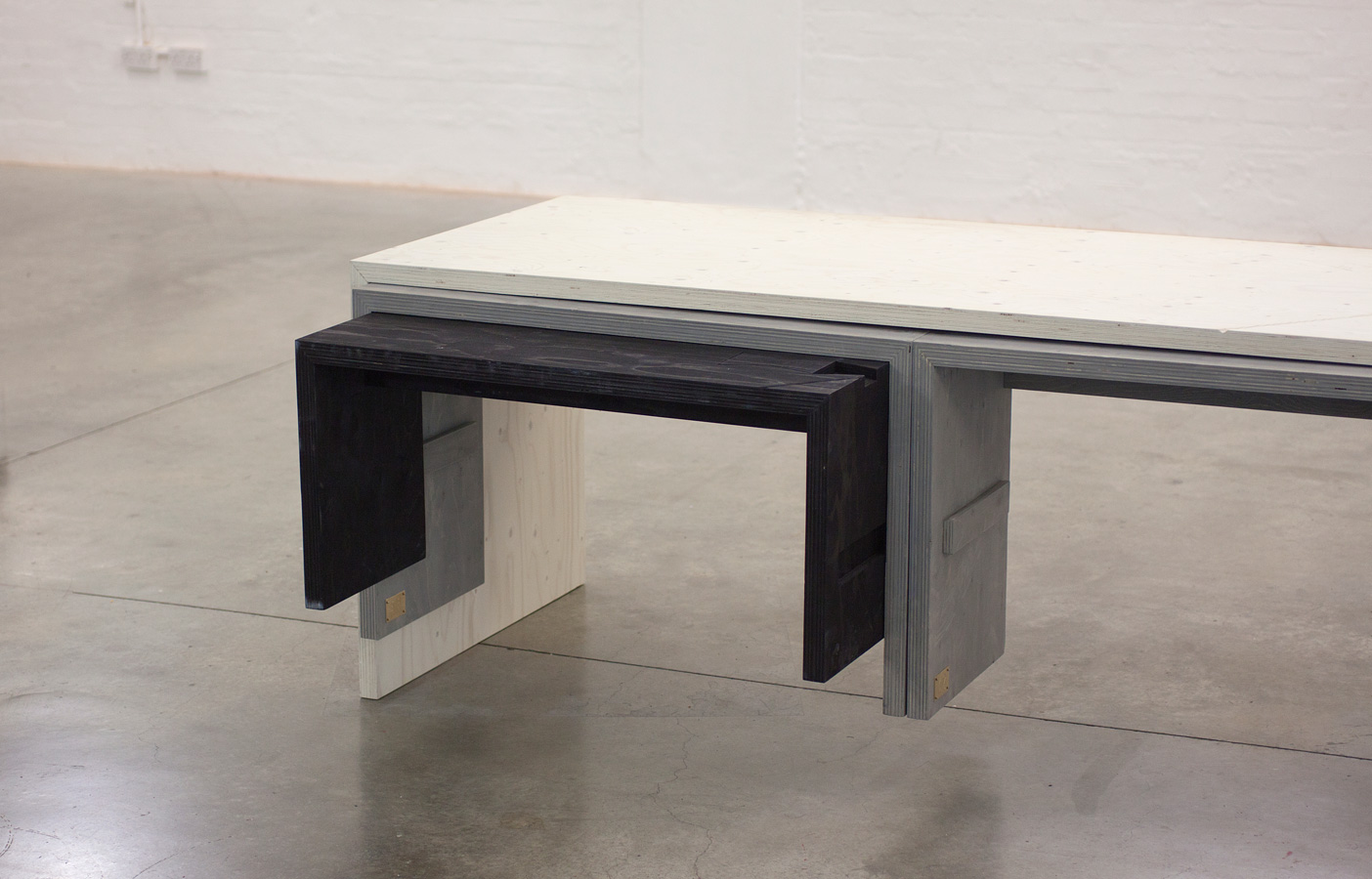 Aldworth James & Bond | Nesting Table for Build at LDF - seat, bench and 'mother' table