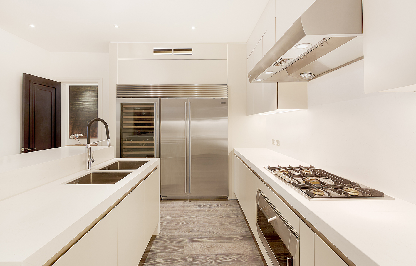 Aldworth James & Bond | Chelsea Residence | Kitchen with in-built Gaggenau appliances