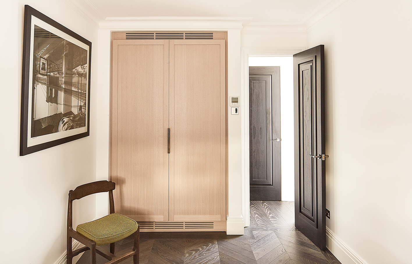 Aldworth James & Bond | Chelsea Residence | Fitted wardrobe in guest bedroom