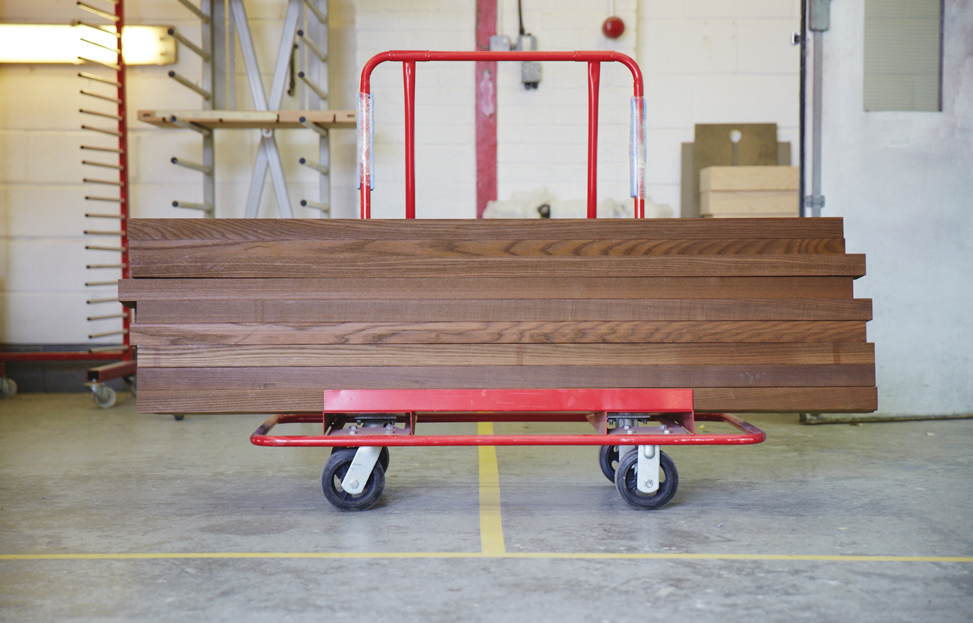 Aldworth James & Bond | Chisenhale in production - American hardwood ready for assembly