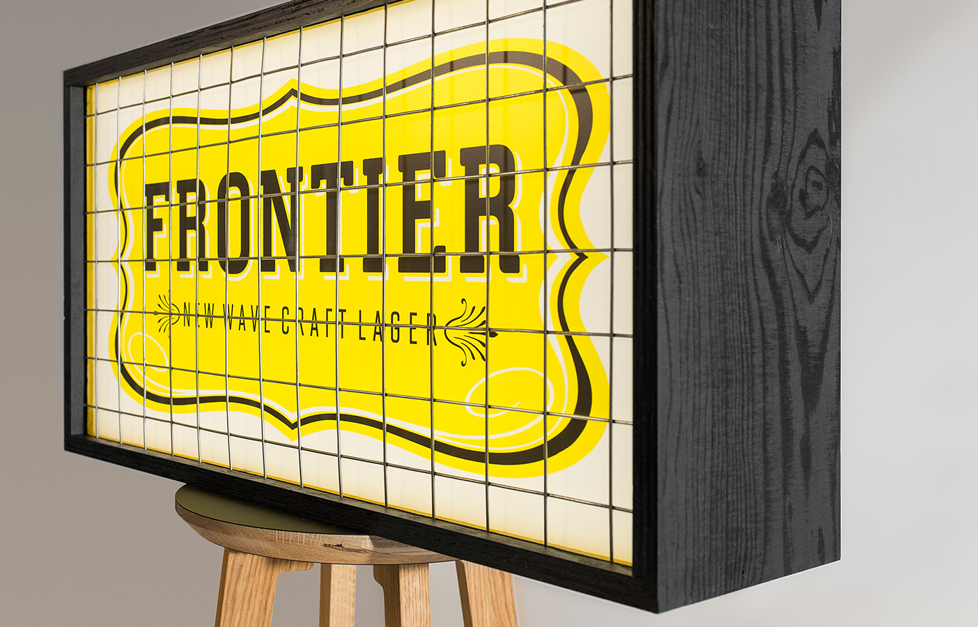 Aldworth James & Bond | Frontier Light Boxes - joinery and graphics by AJ&B