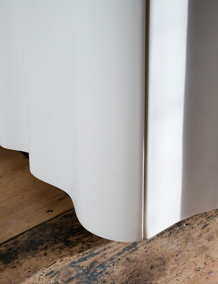 Aldworth James & Bond | Jake Moulson - Dublin Townhouse | Curved Corian door front detail