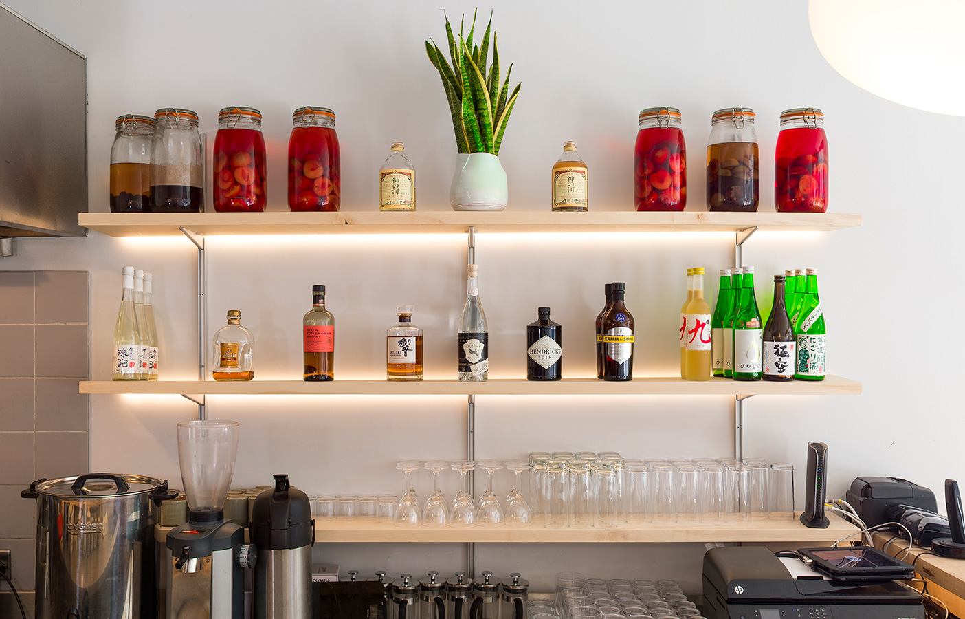 Aldworth James & Bond | Jidori Dalston - bar shelving