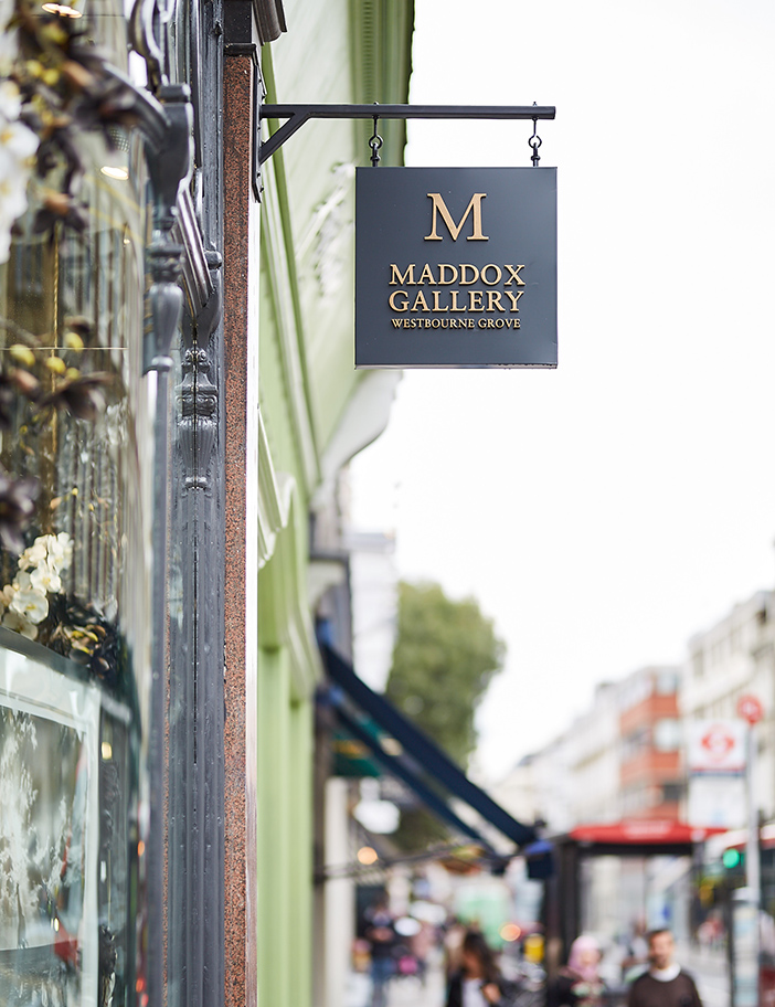 Aldworth James & Bond | Maddox Gallery - Westbourne Grove | Hanging signage