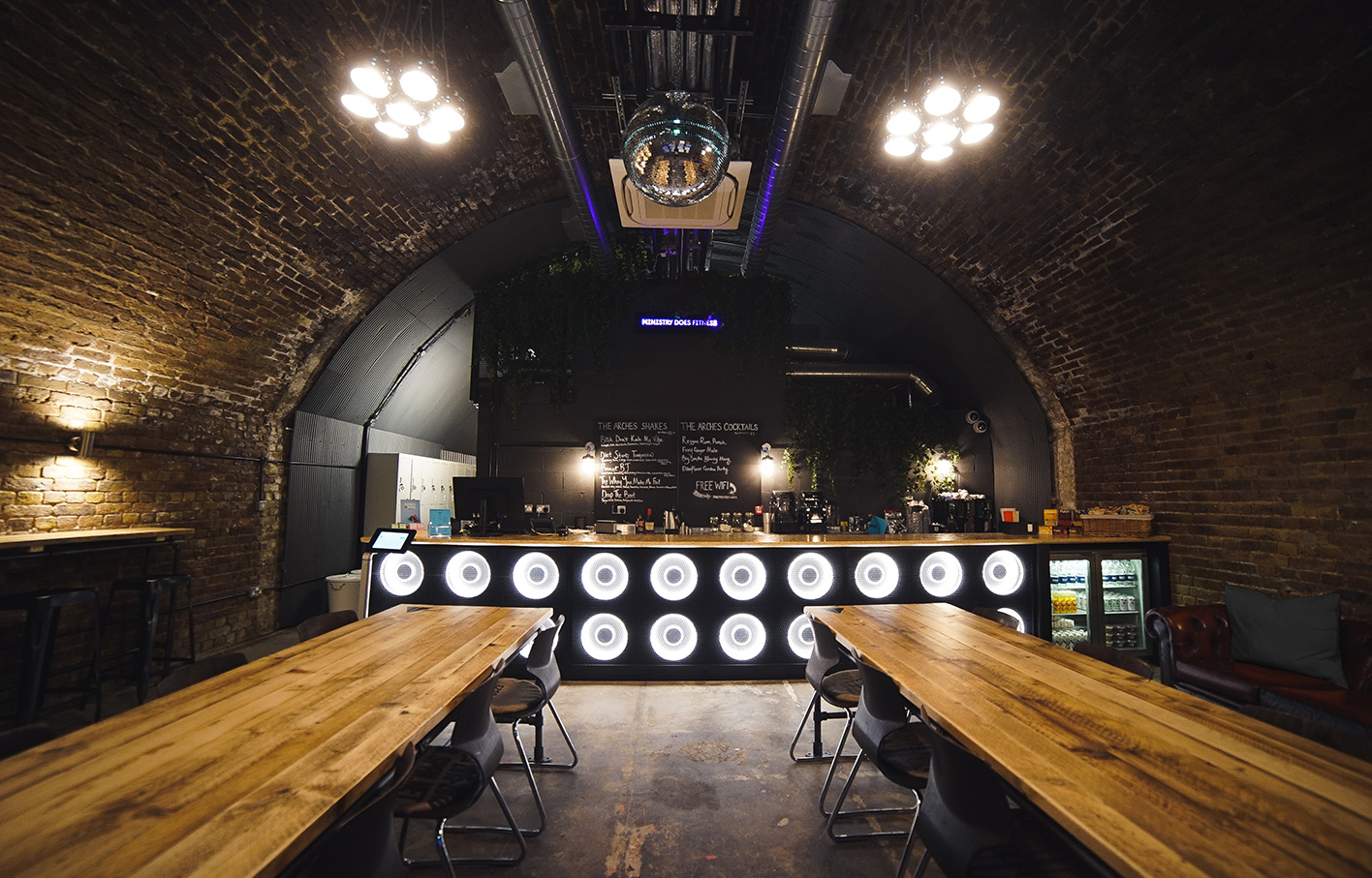 Aldworth James & Bond | Ministry of Sound The Arches bar