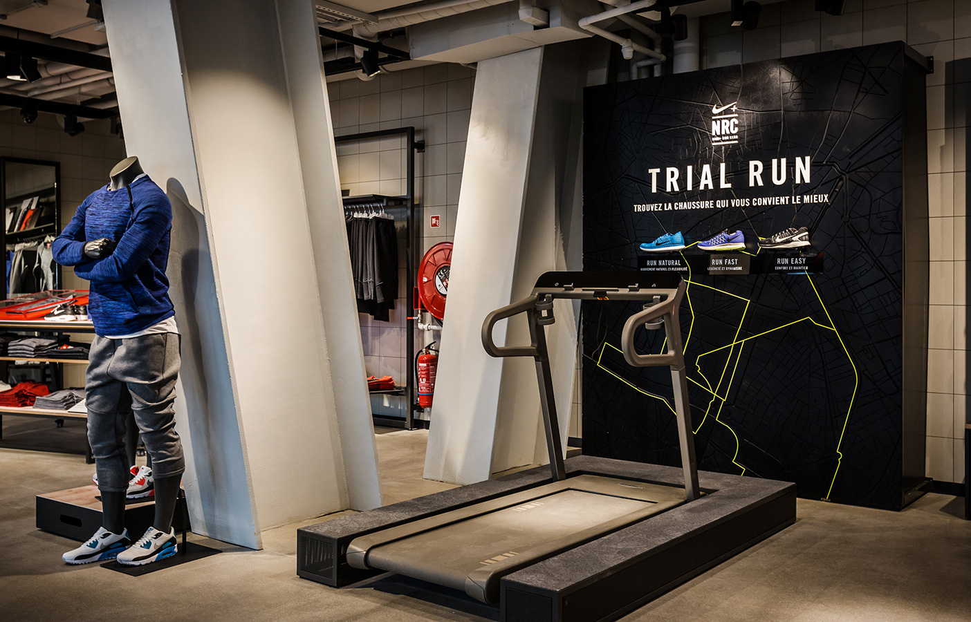 Aldworth James & Bond | Nike Store Les Halles - Trial Run map by AJ&B CNC team