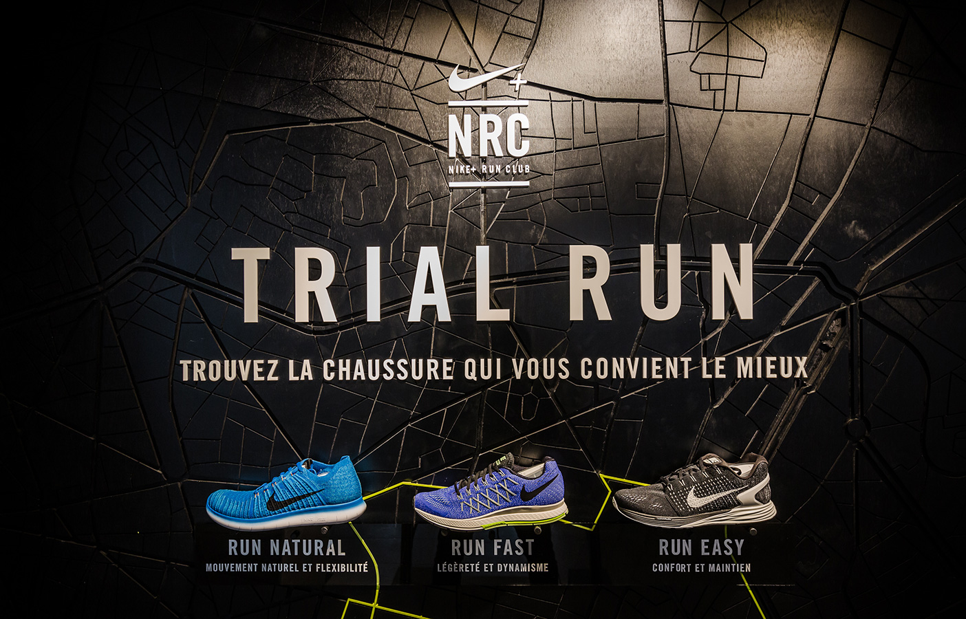 Aldworth James & Bond | Nike Store Les Halles - Trial Run map