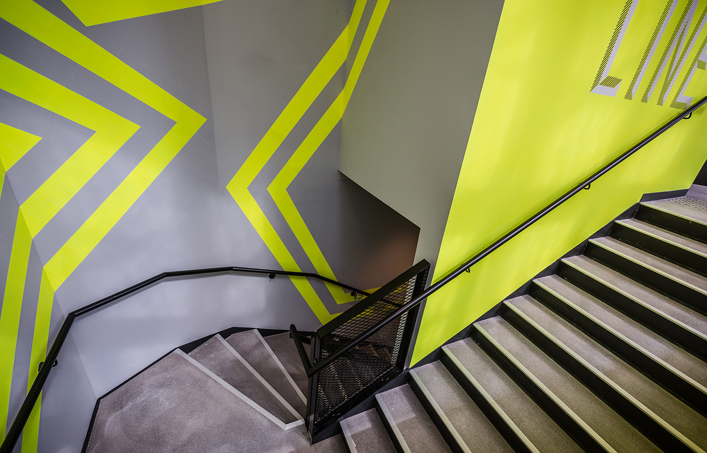 Aldworth James & Bond | Nike Store Les Halles, Paris - staircase decoration