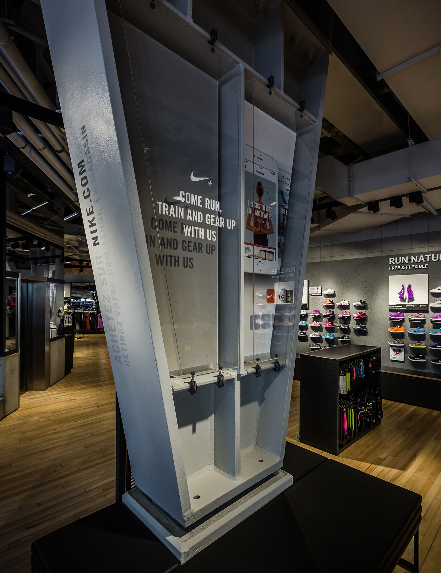 Aldworth James & Bond | Nike Store Les Halles - retail installation