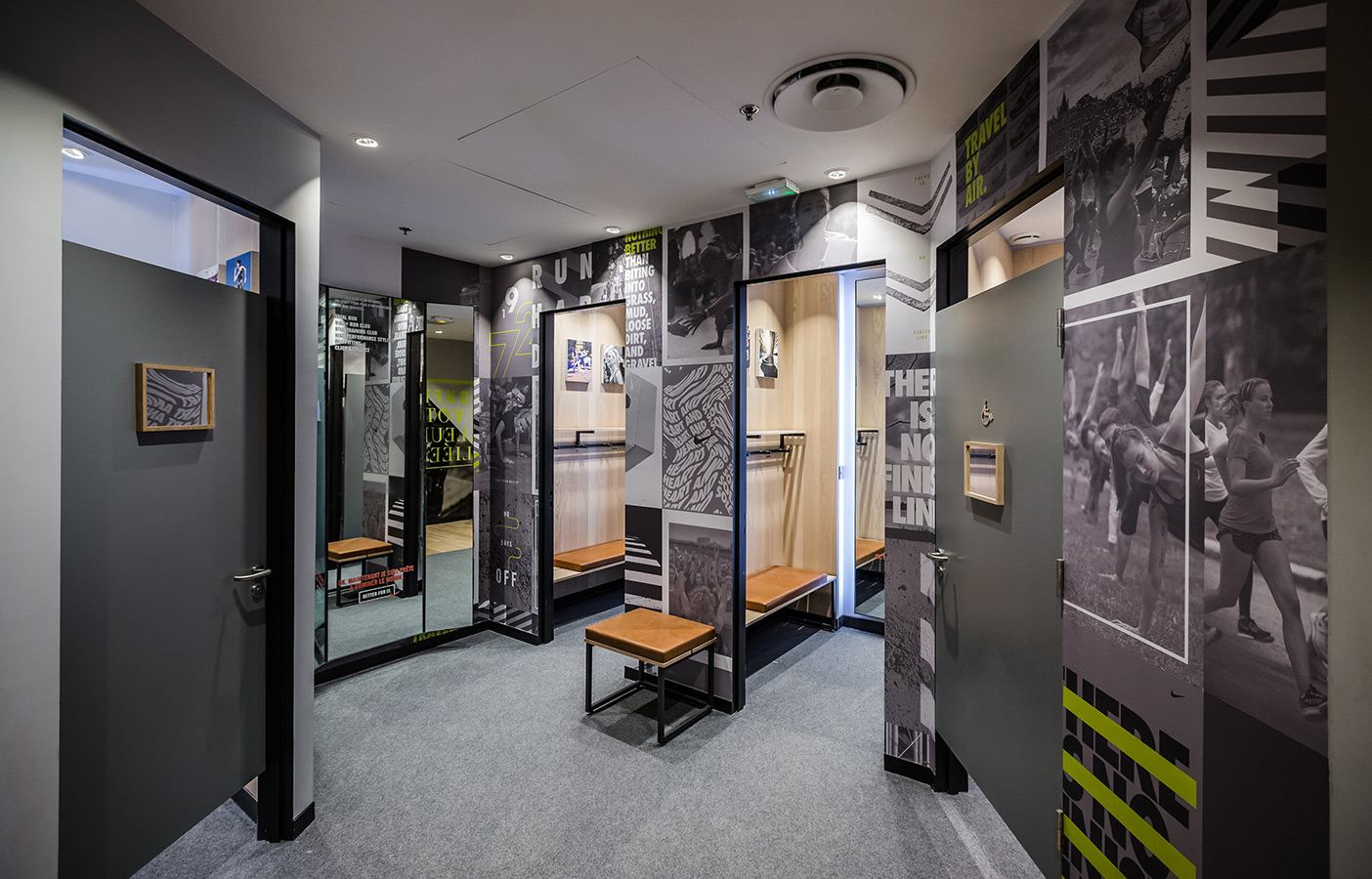 Aldworth James & Bond | Nike Store Les Halles - Changing room decoration