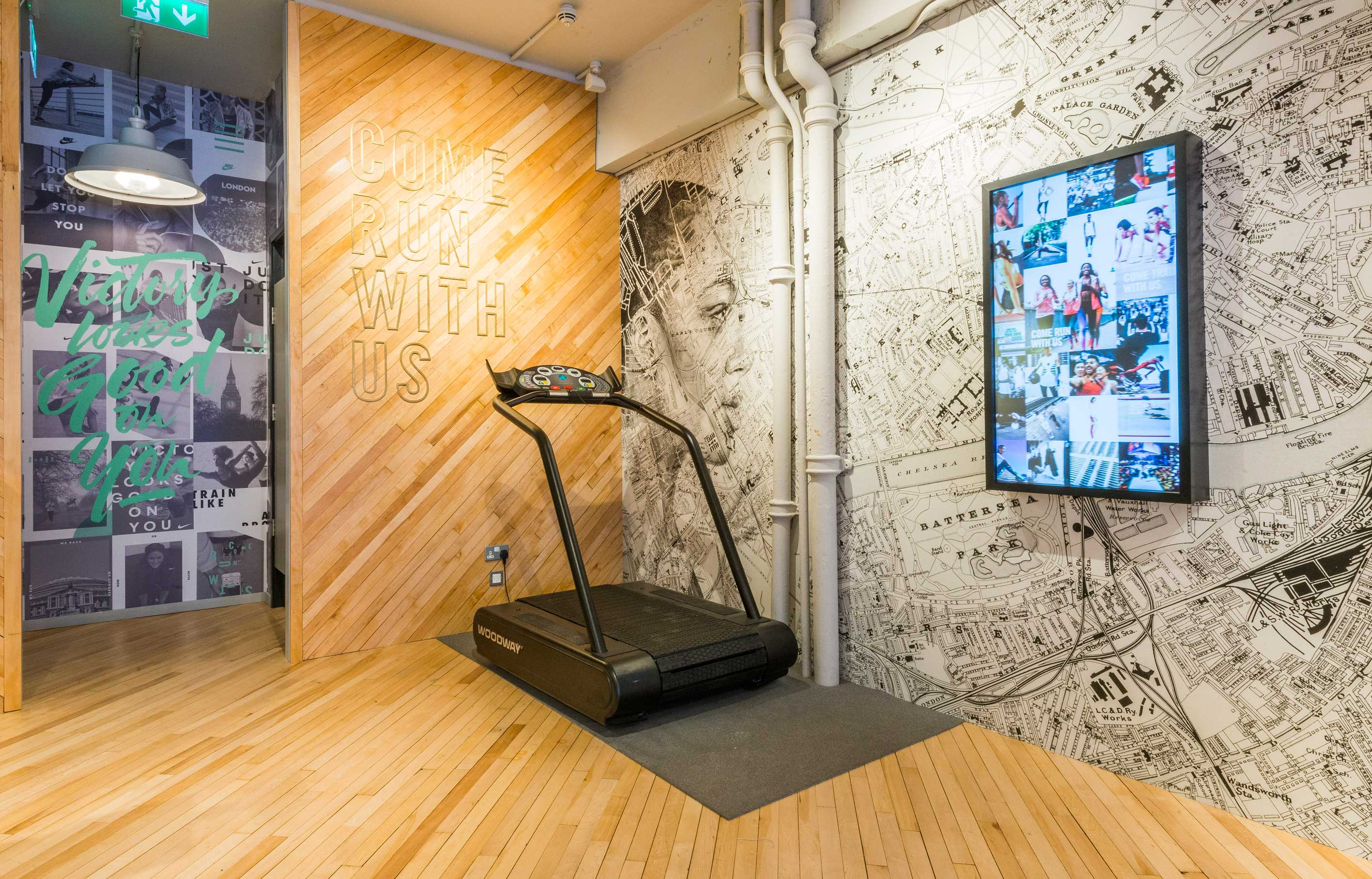 Aldworth James & Bond | Nike Women Store, London - map graphics and signage