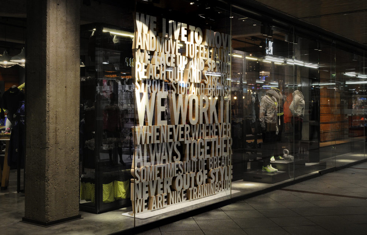 Aldworth James & Bond | Nike Store Berlin - window display
