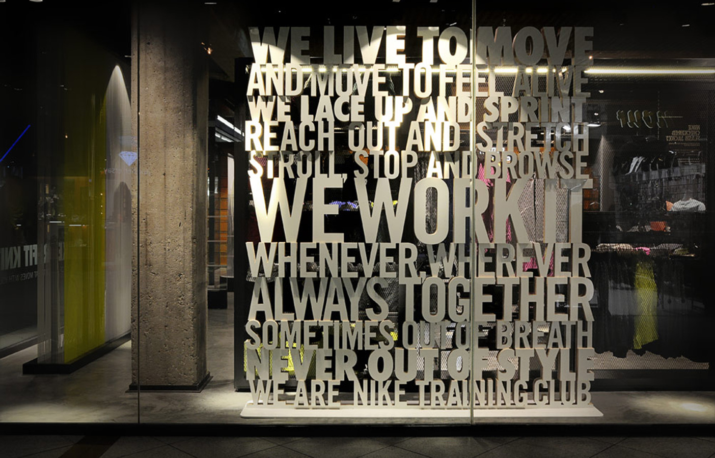 Aldworth James & Bond | Nike Store Berlin - window display + signage