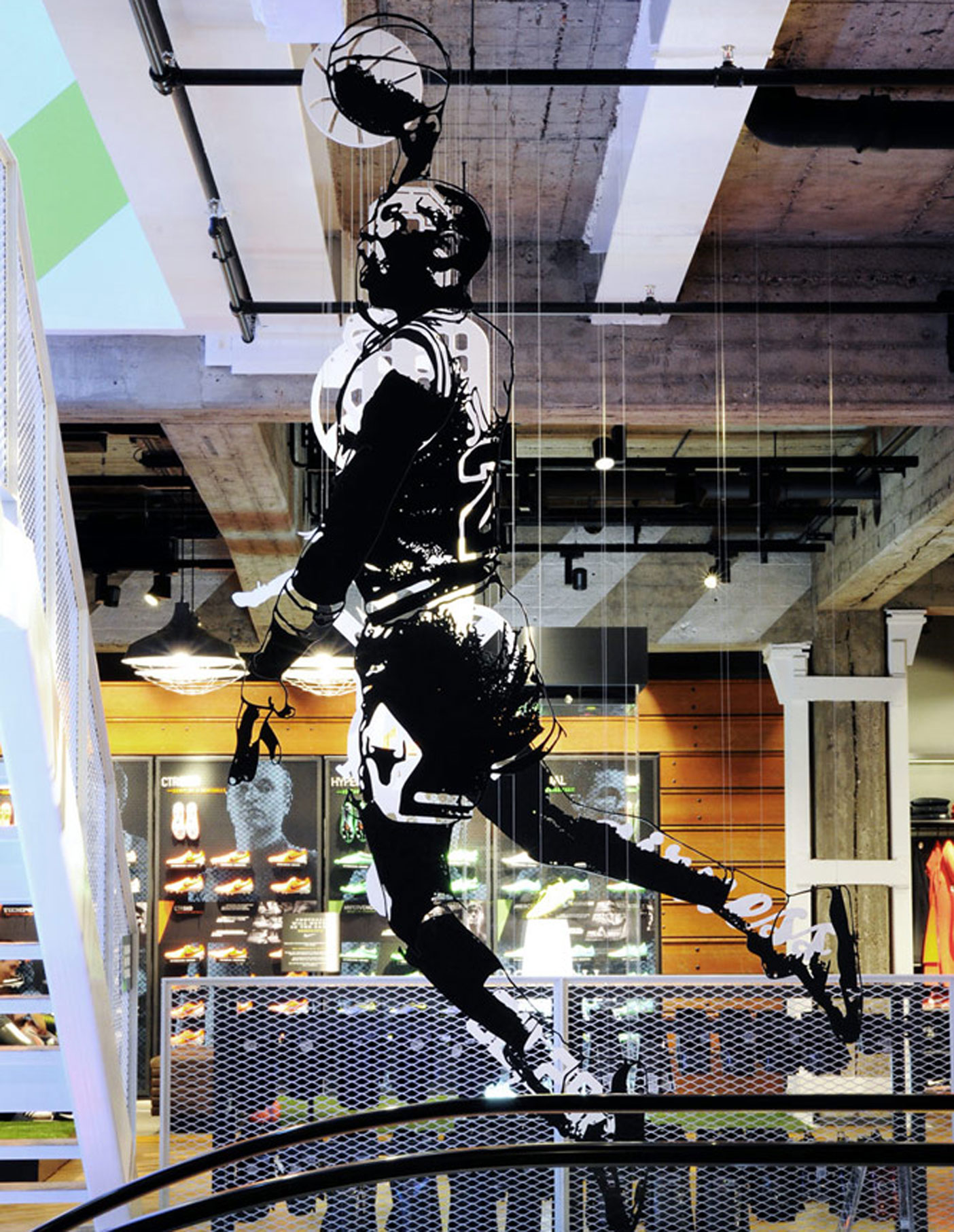 Aldworth James & Bond | Nike Store Berlin - Michael Jordan artwork