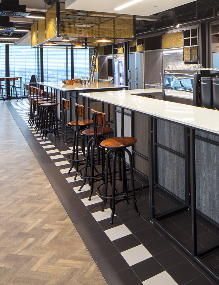 Aldworth James & Bond | The Leadenhall Building | Bar joinery & metalwork for new office fit out