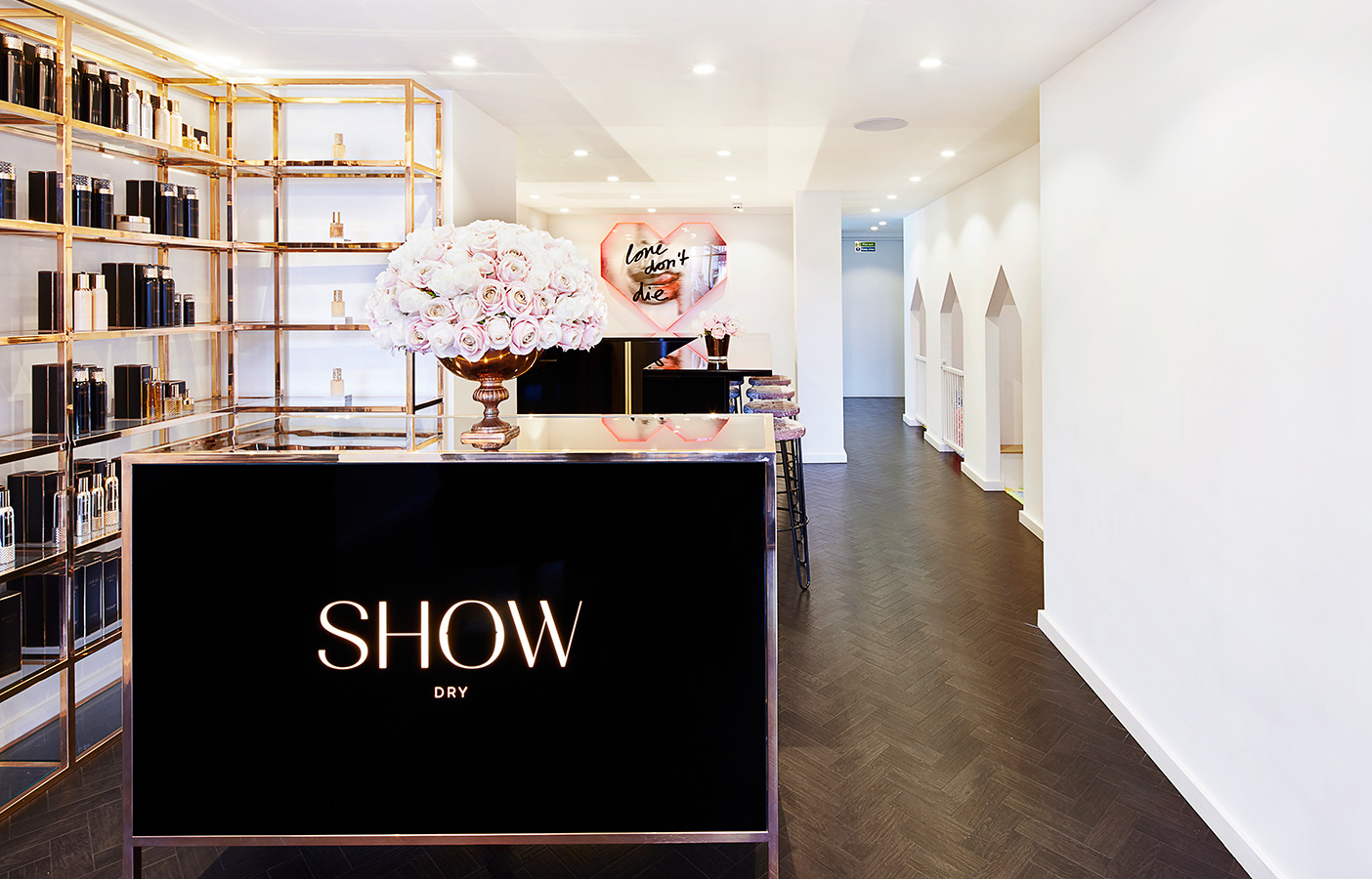 Aldworth James & Bond | SHOW Dry Wimbledon luxury salon reception desk