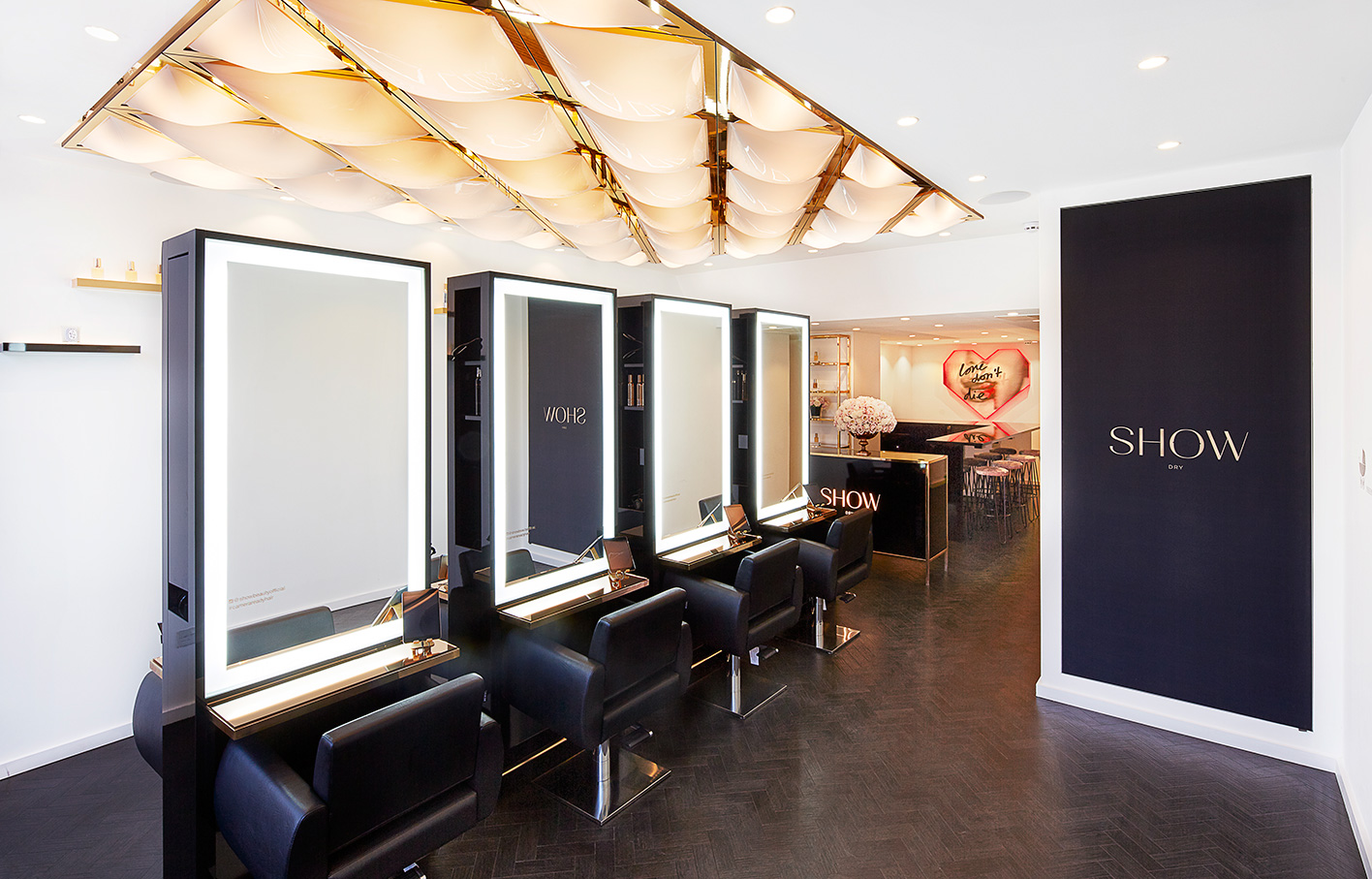 Aldworth James & Bond | SHOW Dry Wimbledon luxury salon interior
