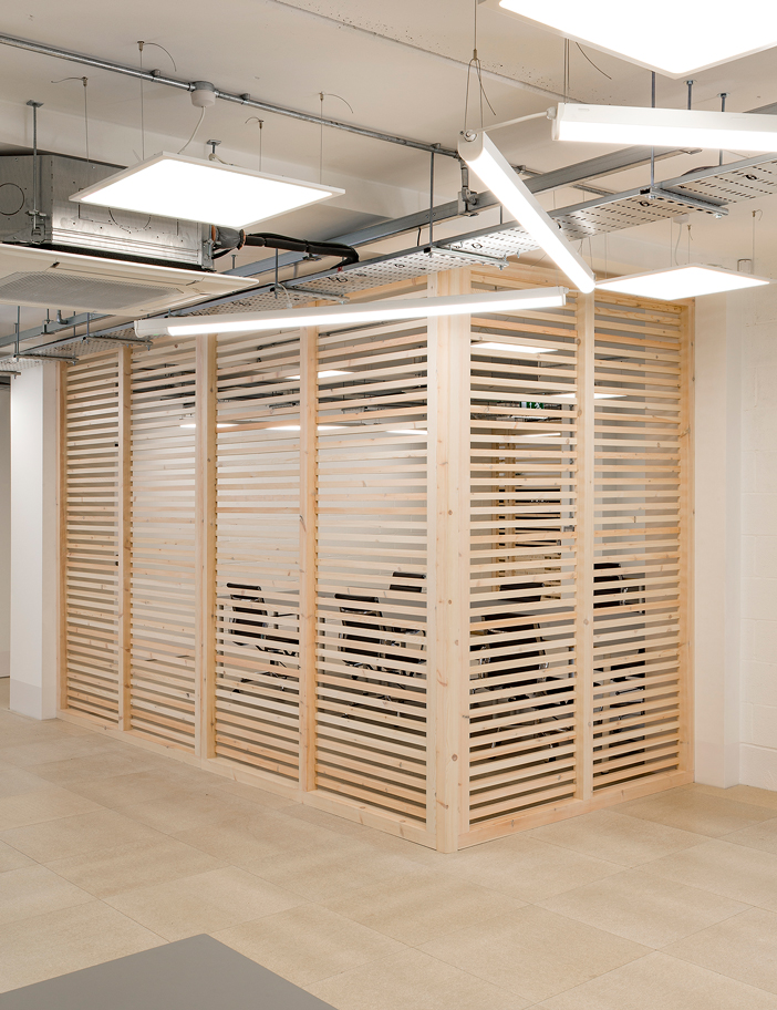 Aldworth James & Bond | Today Studios joinery - office partition