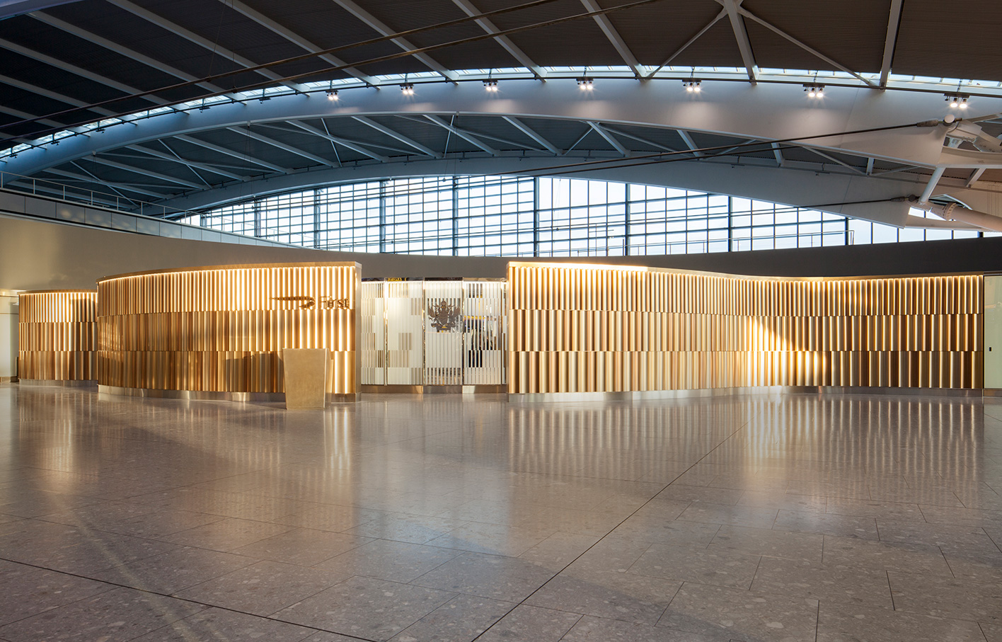 Aldworth James & Bond | Feature Walls at Heathrow Airport | Designed by Universal Design Studio