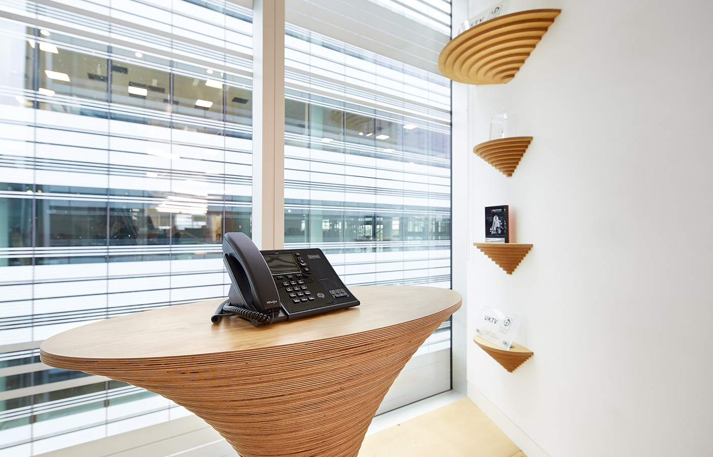 Aldworth James & Bond | UKTV Office Additions | Phone stand and shelving