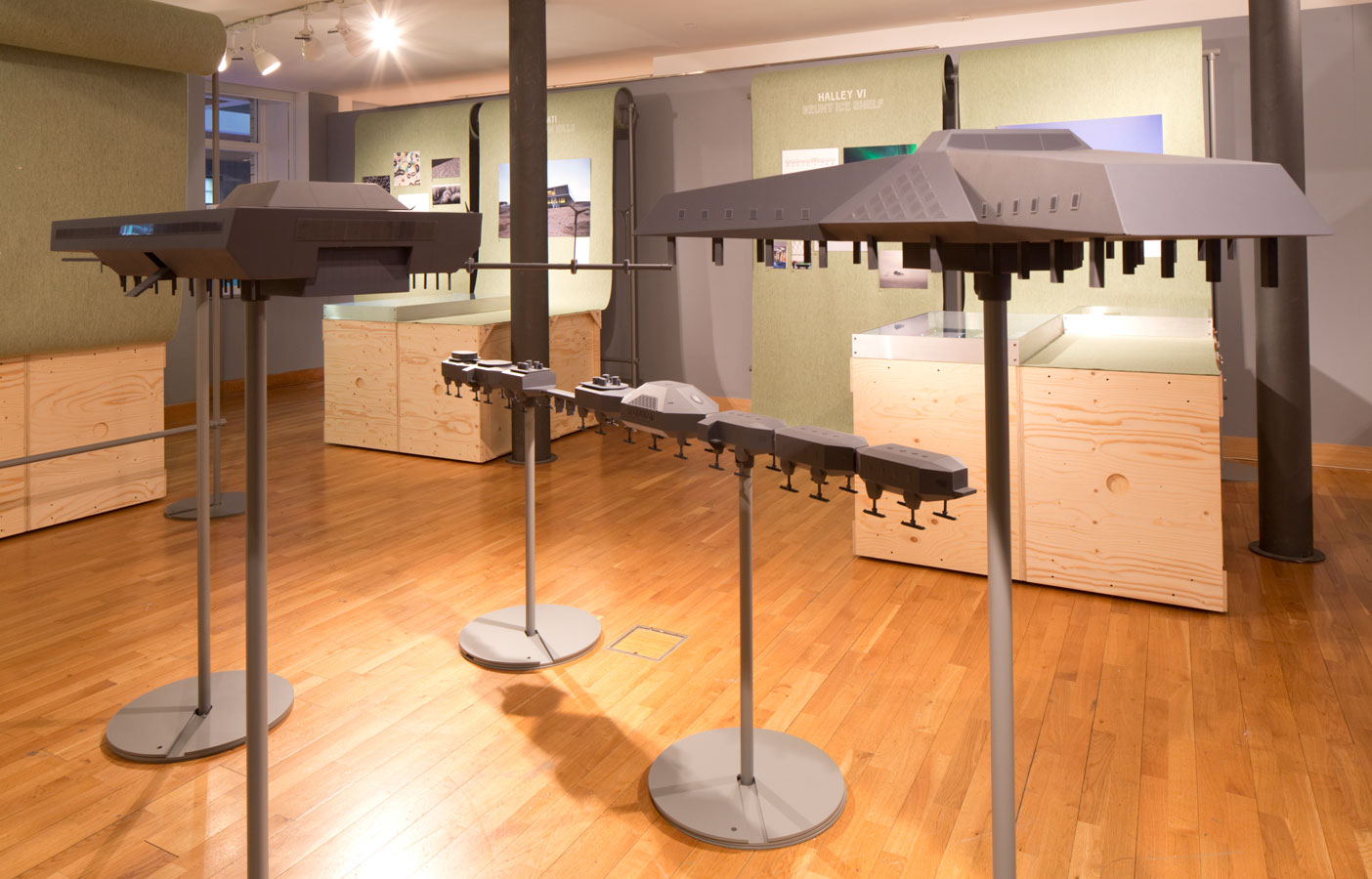 Aldworth James & Bond | Ice Lab Exhibition - display stands for We Made That & British Council