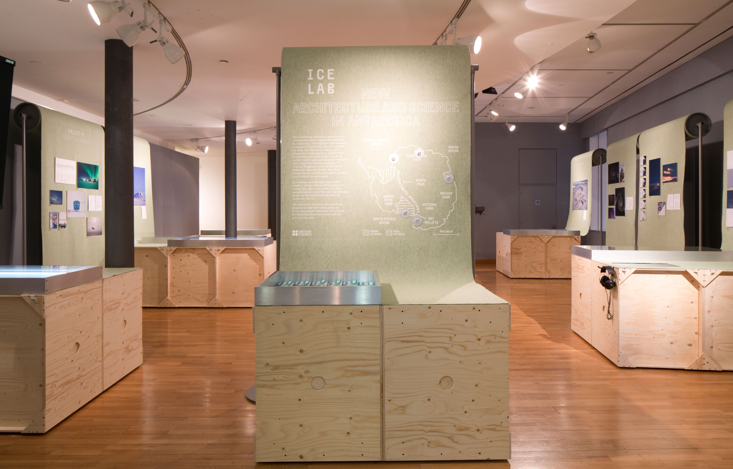 Aldworth James & Bond | Ice Lab Exhibition - joinery and graphics by Aldworth James & Bond