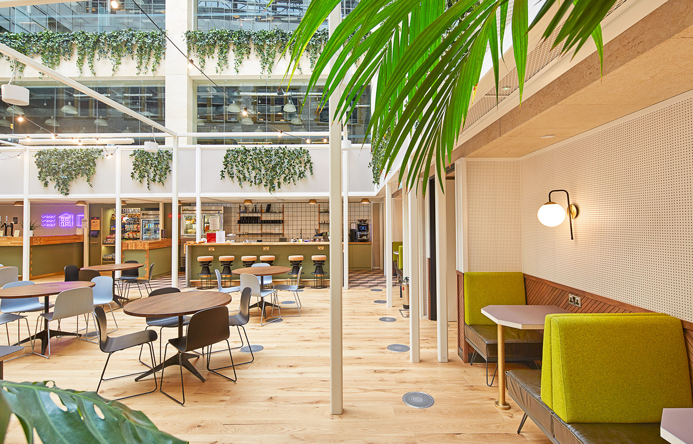 Aldworth James & Bond | WeWork Waterhouse Square - seat nooks in atrium