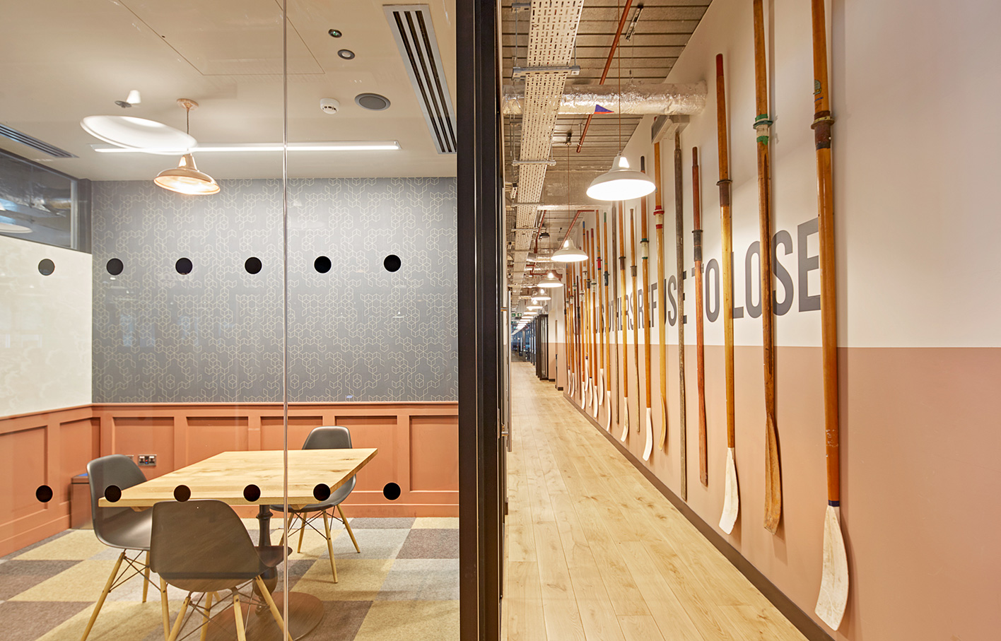 Aldworth James & Bond | WeWork Waterhouse Square - meeting room panelling