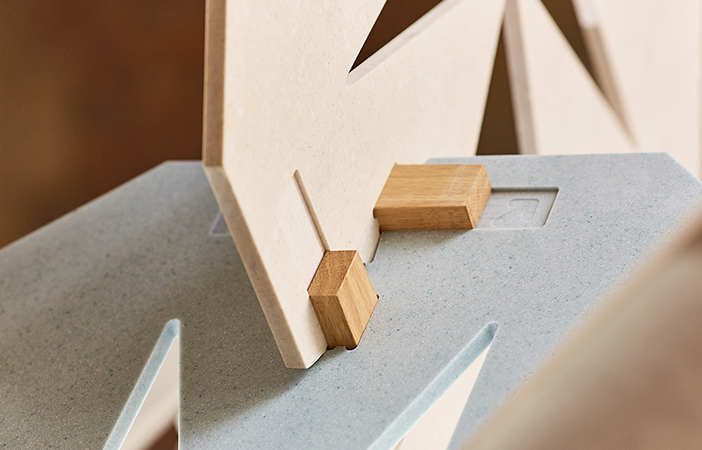 Order by Aldworth James & Bond | Clerkenwell Design Week | Detail of 'Order' construction