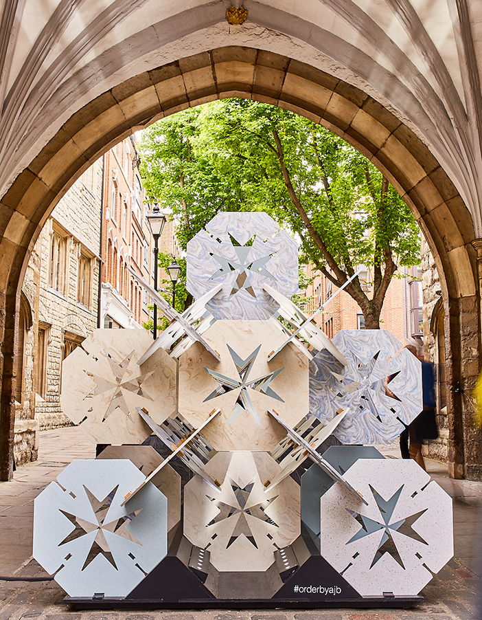 Order by Aldworth James & Bond | Clerkenwell Design Week | Order within the Arch at St John's Gate